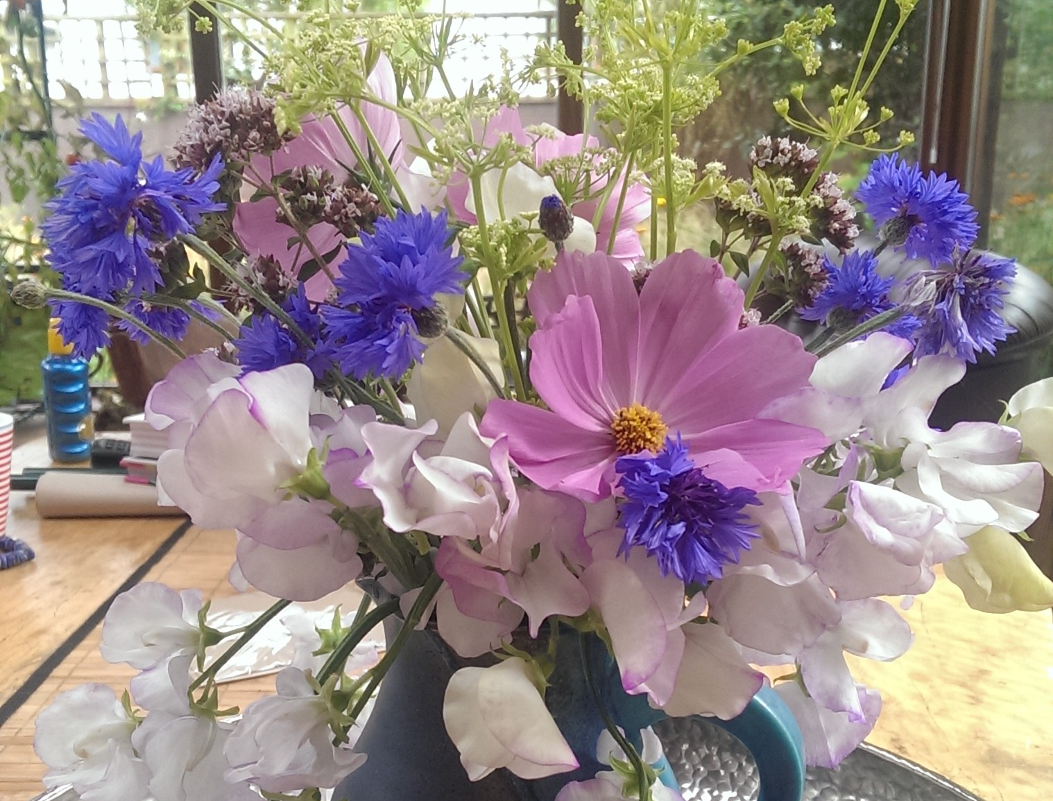 Flowers from the veg patch